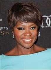 Amazing Short Brown Female Straight Vogue Wigs 8 Inch