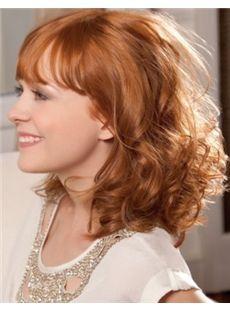 Elegant Short Blonde Female Wavy Vogue Wigs 12 Inch