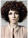Cute Short Brown Female Wavy Vogue Wigs