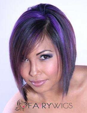 New Impressive Short Colored Female Straight Vogue Wigs 12 Inch