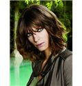 Mysterious Short Brown Female Wavy Vogue Wigs 12 Inch