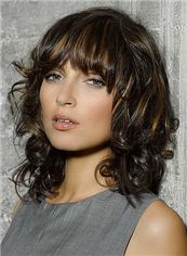 Custom Super Charming Short Black Female Wavy Vogue Wigs 12 Inch