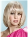 Stunning Short Blonde Female Straight Vogue Wigs 12 Inch