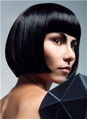 Quality Wigs Short Black Female Straight Vogue Wigs 10 Inch