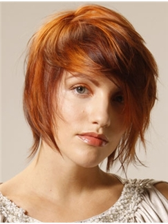 Wigs For Sale Short Red Female Straight Vogue Wigs 12 Inch