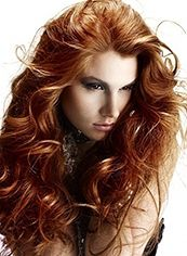 Inexpensive Medium Red Female Wavy Vogue Wigs 18 Inch