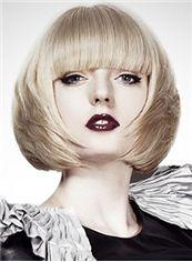 Impressive Short Blonde Female Straight Vogue Wigs 12 Inch
