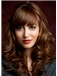Top Quality Medium Brown Female Wavy Vogue Wigs 16 Inch
