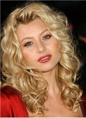 New Glamourous Medium Blonde Female Wavy Vogue Wigs 16 Inch
