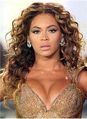 Special Cool Medium Brown Female Beyonce Knowles Wavy Celebrity