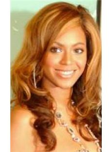 Sexy Medium Blonde Female Beyonce Knowles Wavy Celebrity Hairstyle 16 Inch