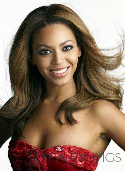Multi-function Medium Blonde Female Beyonce Knowles Wavy Celebrity Hairstyle 18 Inch