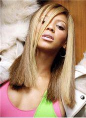 Soft Medium Blonde Female Beyonce Knowles Straight Celebrity