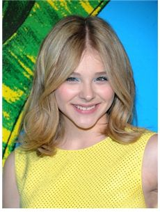 Prevailing Medium Blonde Female Chloe Moretz Wavy Celebrity Hairstyle