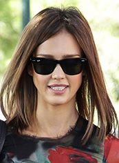 Impressive Medium Brown Female Jessica Straight Celebrity Hairstyle 14 Inch