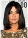 Sale Wigs Medium Black Female Jessica Straight Celebrity Hairstyle 14 Inch