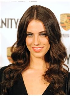 Wholesale Long Brown Female Jessica Wavy Celebrity Hairstyle 20 Inch