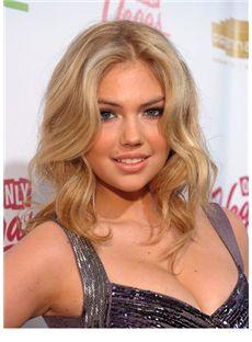 Popurlar Medium Blonde Female Kate Upton Wavy Celebrity Hairstyle 18