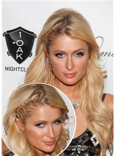 The Fresh Long Blonde Female Paris Hilton Wavy Celebrity Hairstyle 22 Inch