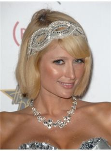New Fashion Short Blonde Female Paris Hilton Straight Celebrity