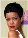 Stunning Short Black Female Rihanna Wavy Celebrity Hairstyle 6 Inch