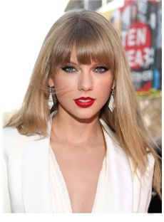 Wigs For Sale Long Blonde Female Taylor Swift Straight Celebrity Hairstyle 20 Inch