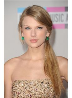 Sparkling Long Blonde Female Taylor Swift Straight Celebrity Hairstyle 20 Inch