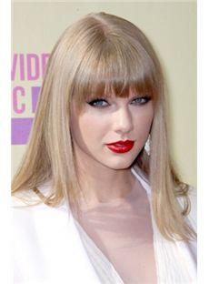 Chic Medium Blonde Female Taylor Swift Straight Celebrity Hairstyle