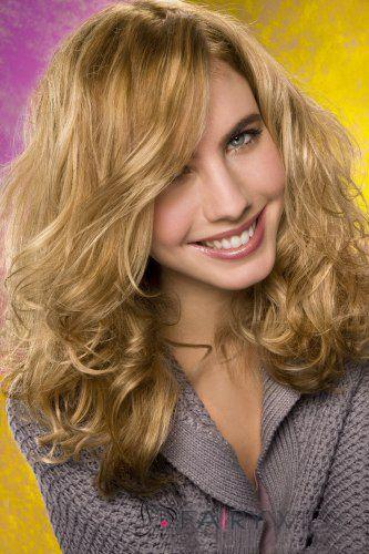 100% Human Hair Blonde Medium Wavy Wigs 16 Inch Full Lace