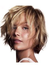 100% Human Hair Blonde Short Wigs Capless Wavy