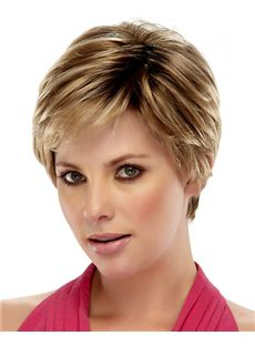 100% Human Hair Brown Short Wigs 8 Inch Full Lace Straight