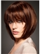 Human Hair Red Short Wigs 12 Inch Capless Straight