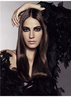 2015 Cool Full Lace Medium Wavy Black Real Human Hair Wig