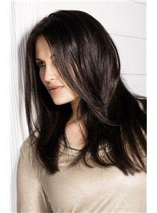 2013 Fashion Trend Full Lace Medium Straight Black Remy Hair Wig