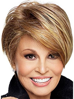Amazing Capless Short Wavy Blonde Human Hair Wig