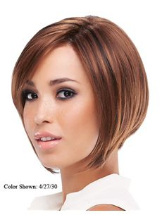 Amazing Full Lace Short Straight Brown Top Quality Remy Hair Wig