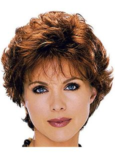 Attractive Short Wavy Red 10 Inch Real Human Hair Wigs