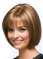 Best Short Straight Blonde 12 Inch Indian Remy Hair Wigs
