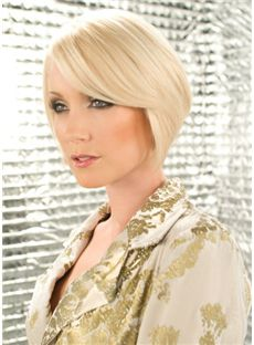 Cheap Short Straight Blonde 10 Inch Remy Human Hair Wigs