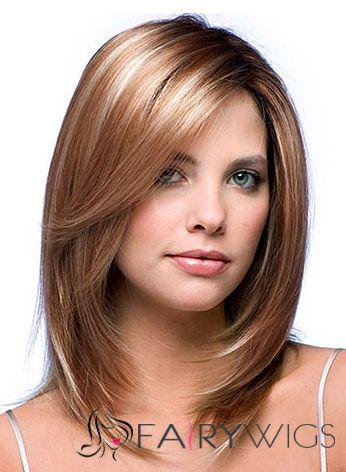 Стрижка средней длины для тонких волос и овального лица