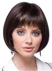 Dynamic Feeling from Short Straight Black 12 Inch Remy Human Hair Wigs