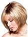 European Style Short Straight Blonde 12 Inch Human Hair Wigs