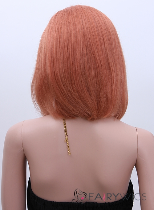 European Style Short Straight Blonde 12 Inch Human Hair Wigs