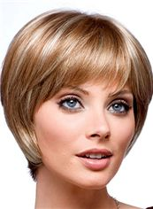 Fancy Short Straight Blonde 10 Inch Indian Remy Hair Wigs
