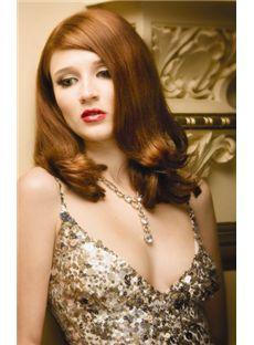 Fantastic Full Lace Medium Wavy Blonde Remy Hair Wig