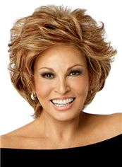 Grand Full Lace Short Wavy Blonde Remy Hair Wig