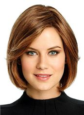 Grand Full Lace Short Wavy Brown Remy Hair Wig