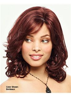 Hand Knitted Medium Wavy Red 14 Inch Hair Wigs