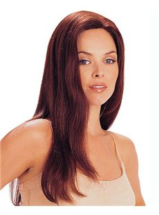 New Glamourous Full Lace Medium Straight Red Remy Hair Wig
