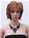 New Short Wavy Brown Human Hair Wigs